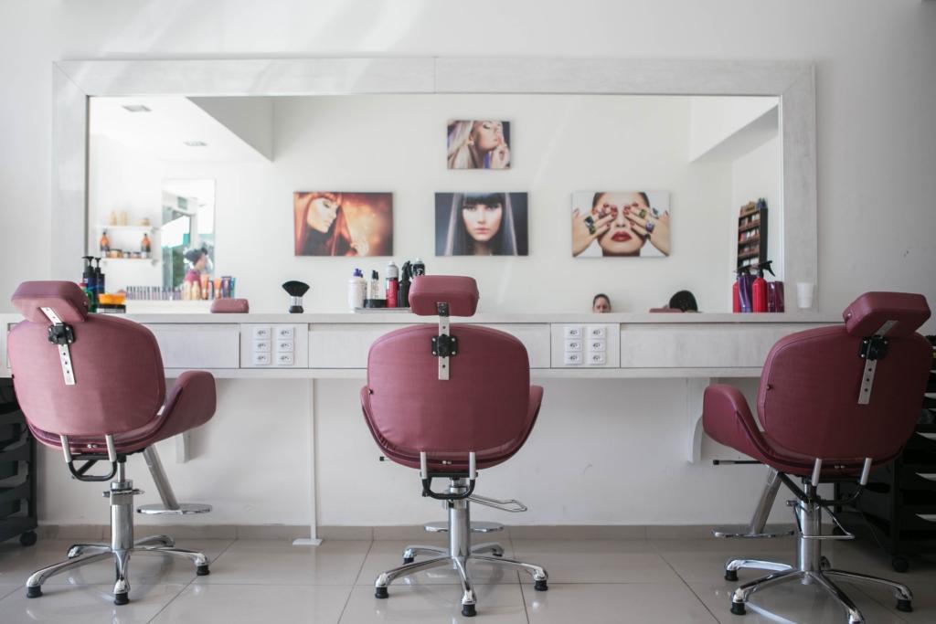 donner du style à un salon de coiffure
