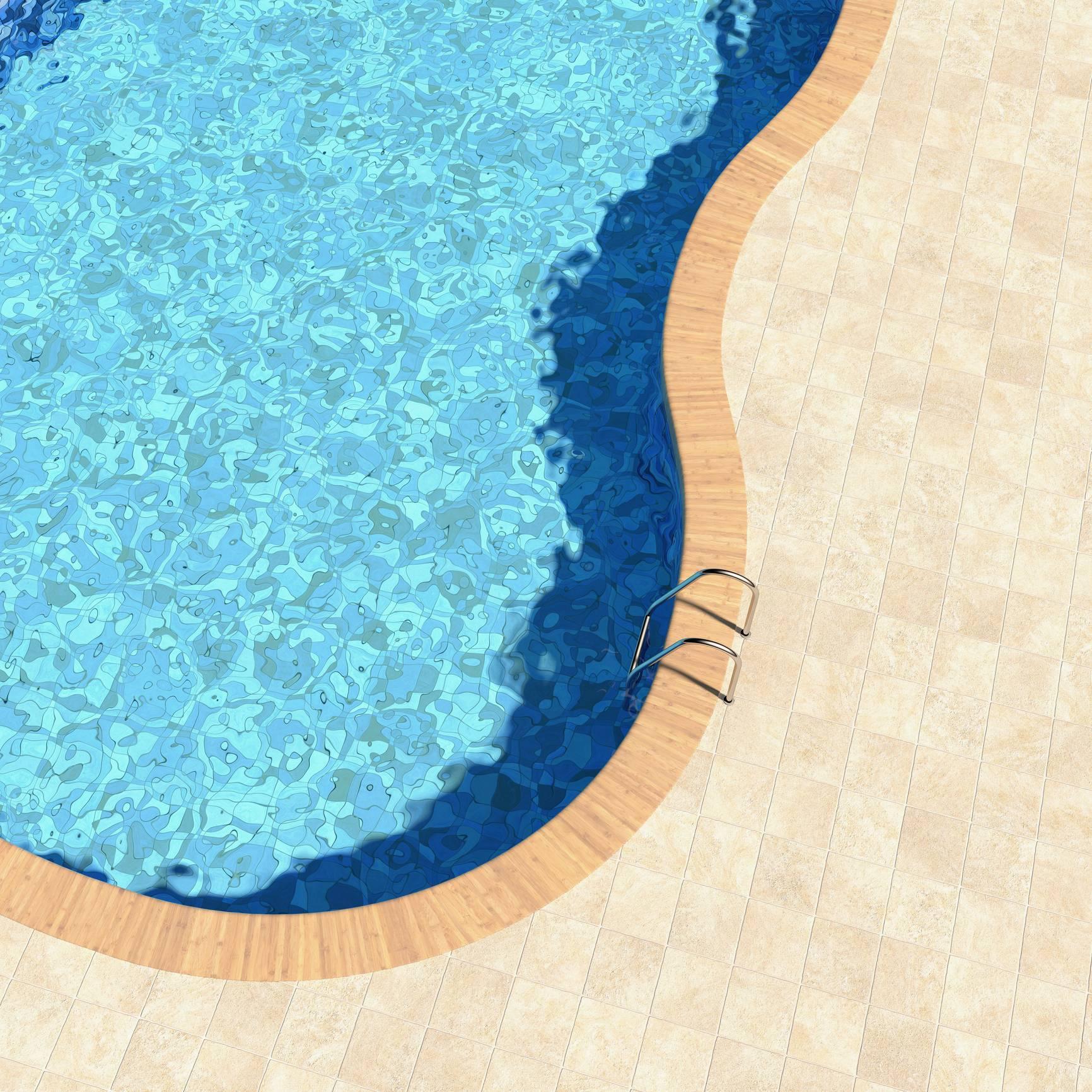 carrelage céramique plage de piscine