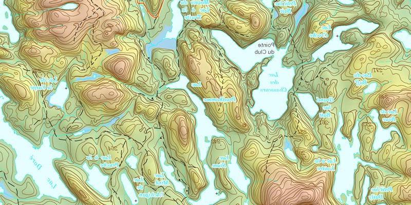 Lire une carte topographique