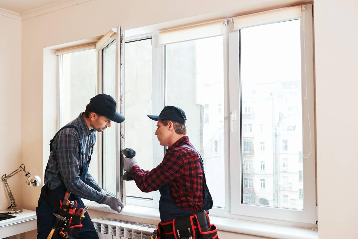 installation de fenêtres en PVC