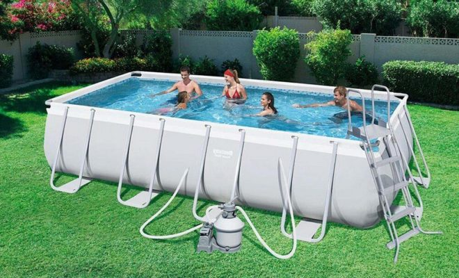 Piscine tubulaire rectangle