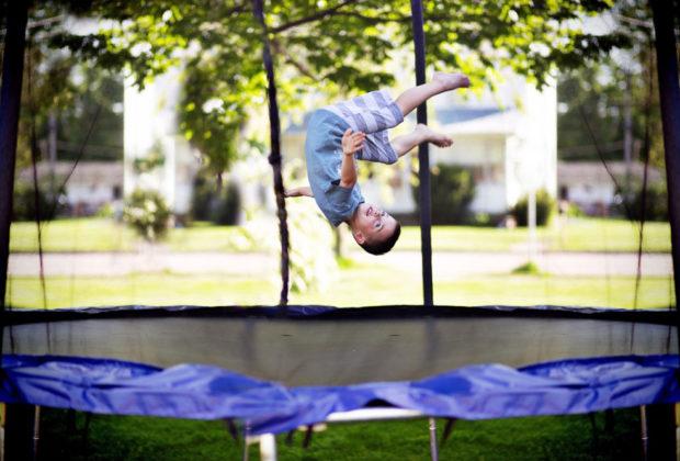 trampoline sécurisé